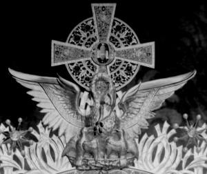 Custodia para la Adoración Nocturna de Madrid (detalle). Talleres de Arte, director Félix Granda y Buylla. 1915.