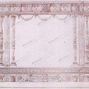 Diseño original para la placa ofrecida por los Registradores de la Propiedad a Alfonso XIII (1917). AFXG, Archivo Fotográfico, Series en sobres, R.03.1800